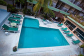 Swimming pool top view — Fotografia Stock
