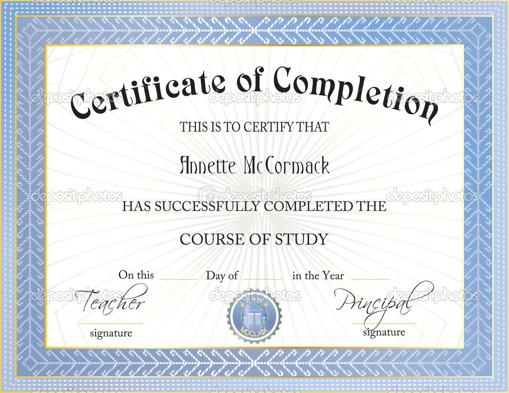 Certificate Of Completion Free Template best dressed student – Free Certificate Template for Word