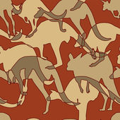 Kangaroo pattern — Stock Vector