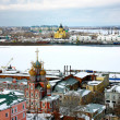 Stock Photo: April view Stroganov church and Cathedral Nevsky
