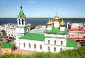 Våren visa kyrkan födelsekyrkan john föregångare nizjnij novgorod — Stockfoto