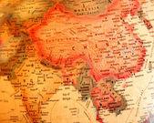 India, China, Thailand on the globe — Stock Photo