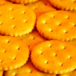 Salted crackers macro — Stock Photo