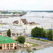 General view of Nizhny Novgorod in june — Stock Photo
