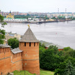 Nizhny Novgorod Kremlin and port Strelka — Stock Photo #11370551