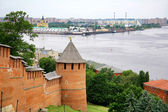 Nizhny Novgorod Kremlin and port Strelka — Stock Photo