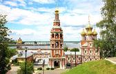 July view Stroganov Church Nizhny Novgorod Russia — Stock Photo