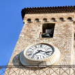 Stock Photo: Bell tower of Church Notre Dame clock Cannes France