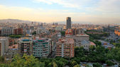 Twilight view of Barcelona Spain — Stock Photo