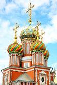 Cupolette stroganov Chiesa nizhny novgorod — Foto Stock