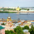 Panoramic july view of Nizhny Novgorod Russia — Stock Photo #11556717