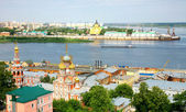 Panoramic july view of Nizhny Novgorod Russia — Stock Photo