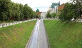 Scenic road in Sunday morning Nizhny Novgorod Russia — 图库照片