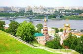 July view of Stroganov church Nizhny Novgorod Russia — Stock Photo