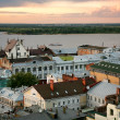 Magical sunset in Nizhny Novgorod Russia — Stock Photo #11748861