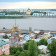 Summer july sunset in Nizhny Novgorod Russia — Stock Photo