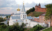 Sunset view Church and Kremlin Nizhny Novgogorod — Stock Photo