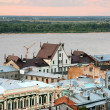 Pink sunset view of the oldest part of Nizhny Novgorod Russia — Stock Photo