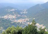 意大利高速公路桥附近热那亚意大利 — 图库照片