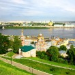 Nizhny Novgorod panoramic cityscape in morning of july — Stock Photo #11819397