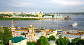 Nizhny Novgorod cityscape in the morning of july — Stock Photo