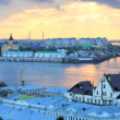 Стоковое фото: Romantic july sunset in Nizhny Novgorod Russia