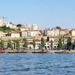 View of Porto city and wine boats on River Douro in Portugal — Foto de stock #12102149