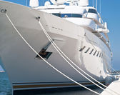 Modern yacht — Stock Photo