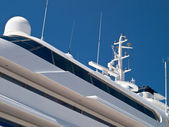 Modern luxury yacht — Stock Photo