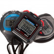Three digital stop watches — Stock Photo
