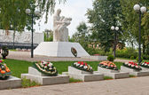 Memorial eternal glory in Kozelsk — Stock Photo
