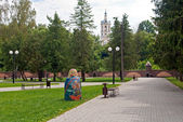 Park in the city center — Stock Photo