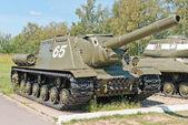 Oude tank in het museum — Stockfoto