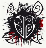 Grunge hjärta — Stockvektor