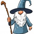 Royalty-Free Stock Vector Image: Simple Cartoon Wizard with staff