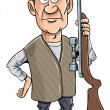 Royalty-Free Stock Vector Image: Cartoon hunter holding his gun