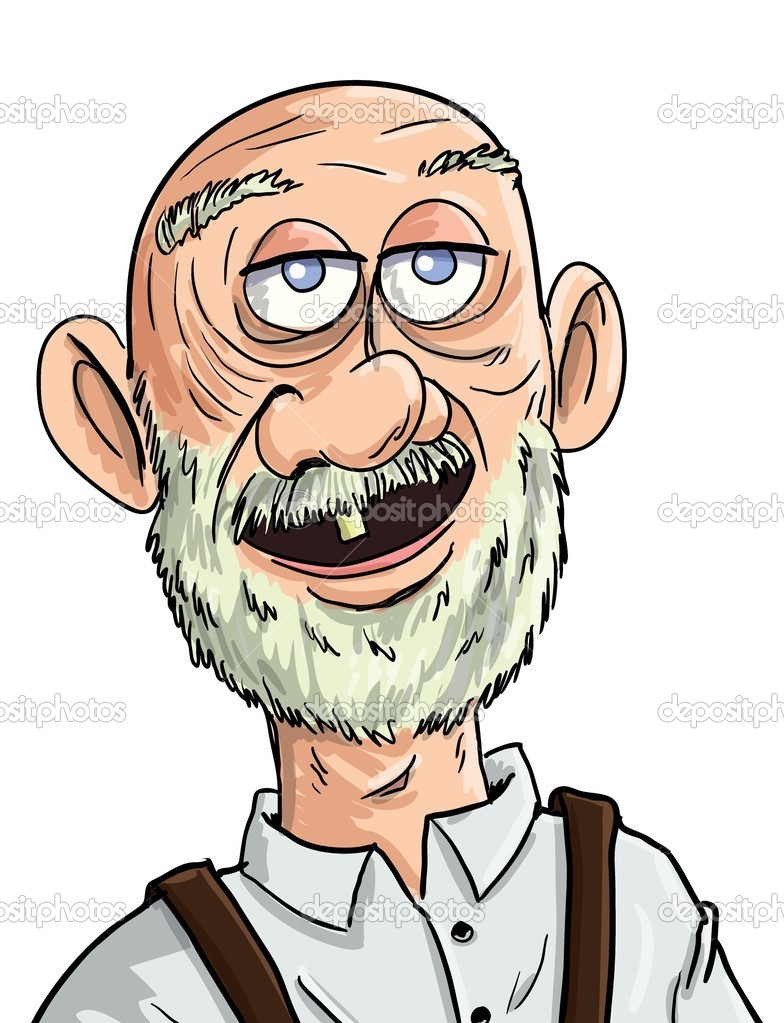 Twitter Facebook Pinterest Google PlusGrumpy Old Man Cartoon Face