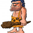 Cartoon caveman with a club. - Imagen vectorial