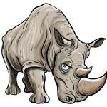 Cartoon illustration of a rhino — Stock Vector #11922199