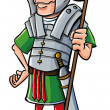 Cartoon Roman Legionary — Stock Vector
