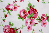 White fabric with floral pattern — Stock Photo