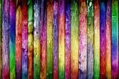 Hell farbigen zaun — Stockfoto