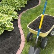 Stock Photo: Mulch Bed With Edging