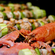 Lobster and Salmon Veggie Skewers. — Stock Photo