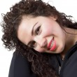 Curly Hair Lady — Stock Photo