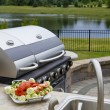 outside bbq kitchen — Stock Photo