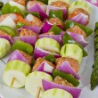Seafood Shish Kebabs are Ready to Cook. — Stock Photo