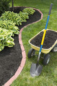 Mulch Bed With Edging — Foto de Stock
