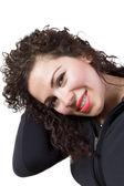 Kıvırcık saçlı kadın — Stok fotoğraf