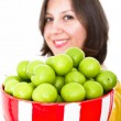 Greengages Presented — Stock Photo